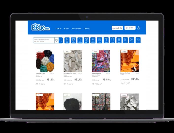 serviços B2Blue plataforma